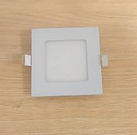 Светильник врезной LED Downlight  3W 6500K/4000К/3000К  85х85х13мм квадратный алюминиевый корпус