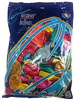 Шары надувные перламутр (металлик) разноцветные, Gemar Balloons GM90, 100шт.
