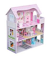 Кукольный домик для барби Pola+мебель