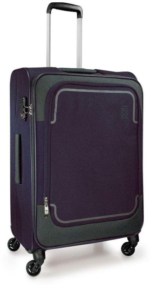 Современный тканевый 4-х колесный чемодан среднего размера 70 л. Roncato Stargate 425472 23, темно синий