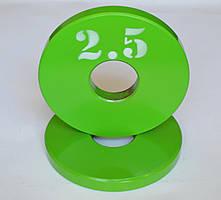 Диск олимпийский металлический 2.5 кг