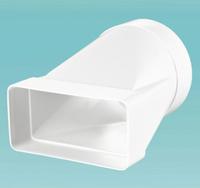 Вентиляция, вентиляционные Соединитель эксцентриковый плоского воздуховодов с круглым пластик 55х110/Д-100