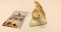"""Золотое кольцо """"Крылья"""" с камнями. Вес 5,54 грамм. БУ."""
