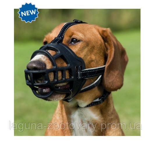 """Намордник силиконовый  """"Flex"""" XL, 37см, черный,  для собак"""