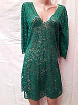 Платье-туника пляжное 025 Тиффани черное на наши 44-46 размеры., фото 3