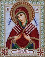 Схема для вышивки бисером Т-0386 Икона Божьей Матери Семистрельная