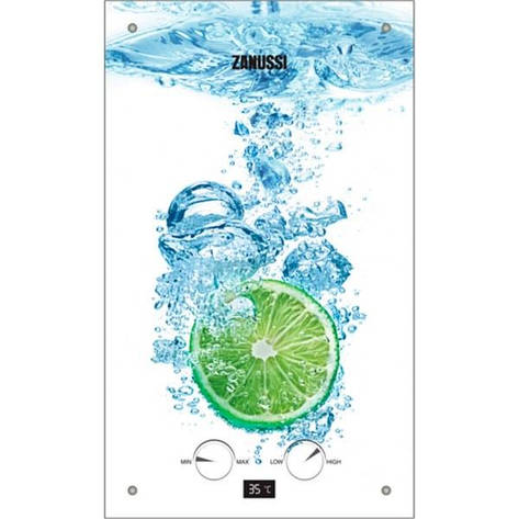 Газова колонка Zanussi GWH 10 Fonte Glass Lime, фото 2