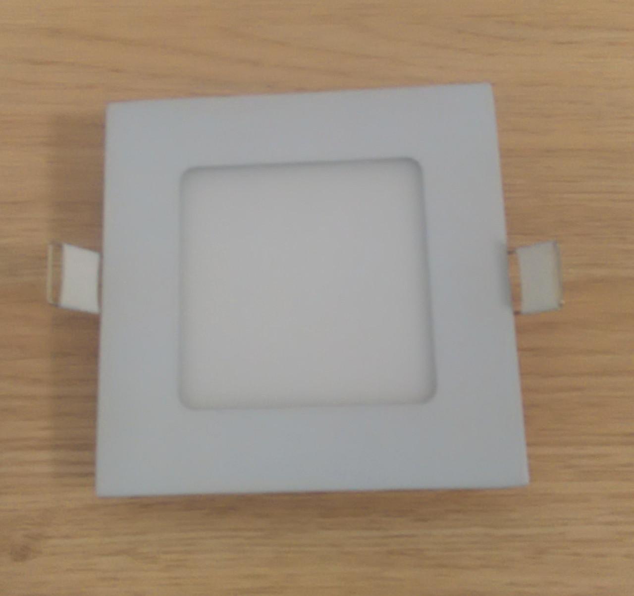 Светильник врезной LED Downlight  6W 6500K/4000К/3000К  120х120х19мм квадратный алюминиевый корпус !