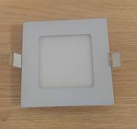 Светильник врезной LED Downlight  6W 6500K/4000К/3000К  120х120х13мм квадратный алюминиевый корпус