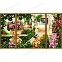 """Рисунок-схема для вышивки бисером (атлас) """"Дом моей мечты"""""""