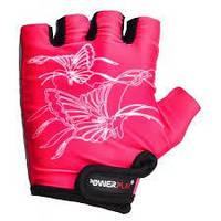Перчатки детские для фитнеса, велоперчатки Power Play без пальцев розовые р. 2XS, 3XS