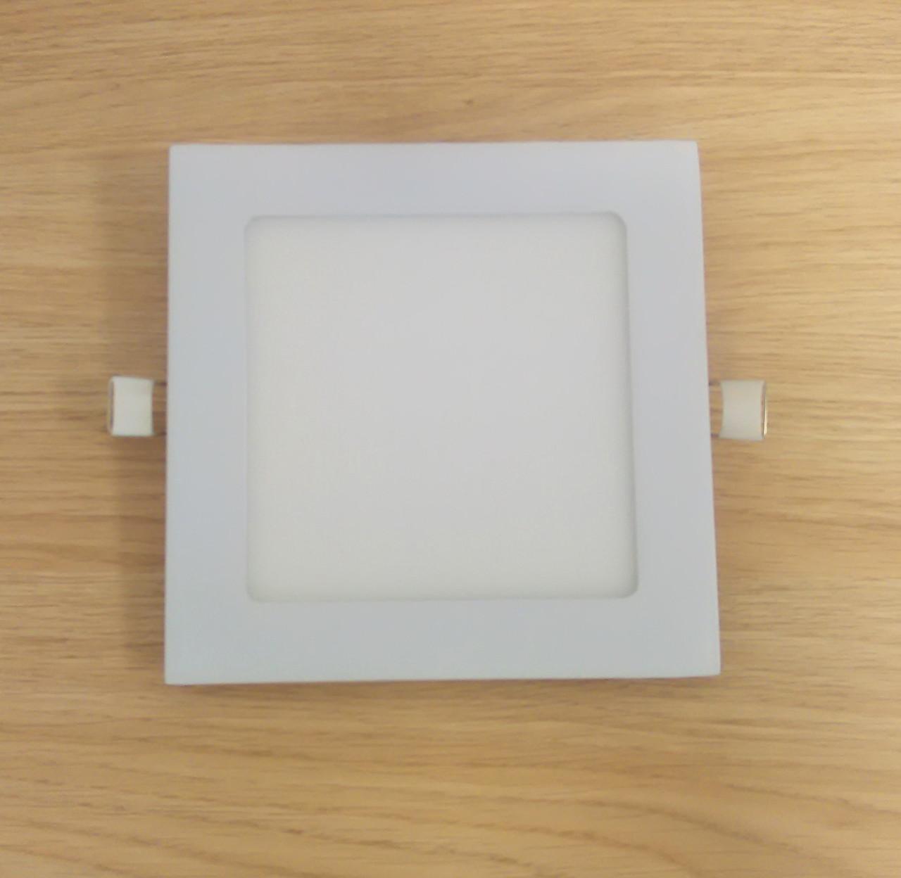 Світильник врізний LED Світильник 9W 6500K/4000К/3000К 149х149мм квадратний алюмінієвий корпус !