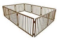 Манеж детский деревянный 63 см 10 секций