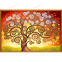 """Рисунок-схема для вышивки бисером(атлас) """"Дерево счастья"""""""