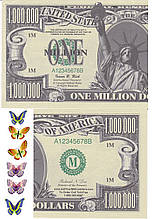 Вафельна картинка One million dollars