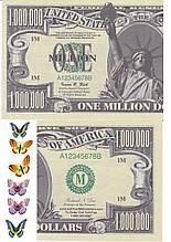 Вафельная картинка One million dollars