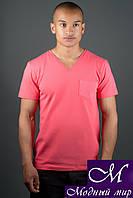 Стильная мужская футболка красного цвета (р. 44-58) арт. 1161