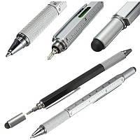 Многофункциональная шариковая ручка: Отвертка + стилус + уровень + линейка!, фото 1