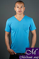 Стильная мужская футболка с карманом (р. 44-58) арт. 1162