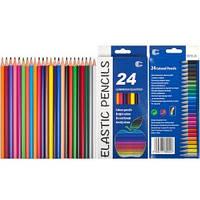Цветные карандаши Luminoso elastico 24 цвета