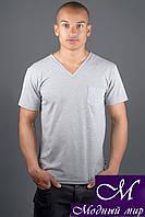 Стильная мужская футболка серого цвета (р. 44-58) арт. 1163