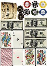 Вафельная картинка Коньяк Фишки и Деньги