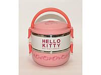 """Термос """"Hello Kitty"""" для еды (2 отделения) 1,4л T83, пищевой термос"""