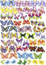 Вафельная картинка Бабочки