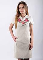 Платье с вышивкой Розы