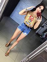 Женские модные джинсовые шорты с поясом