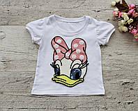 """Модная детская футболка """"Утка"""" для девочек"""
