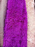 Покрывало травка длинный ворс 220х240 Koloco ,лиловый