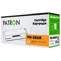 Картридж Patron (PN-36AR) HP LJ P1505/M1120/M1522 Black (аналог CB436A)