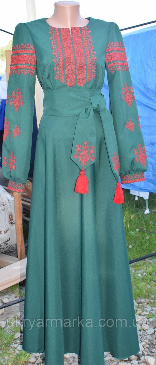 """Вишита сукня """"Тайстра"""" зелена"""