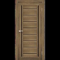 Дверь межкомнатная VENECIA DELUXE дуб браш черное стекло