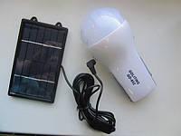 Лампа-фонарь GD-652 с аккумулятором и солнечной панелью
