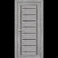 Дверь межкомнатная VENECIA DELUXE эш-вайт черное стекло