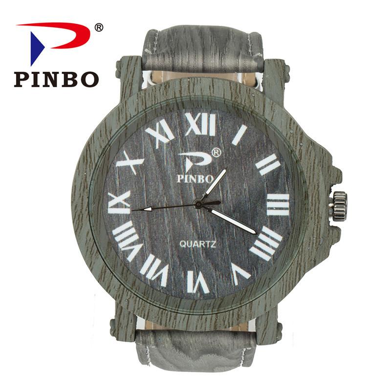 Модные деревянные часы с массивным циферблатом!