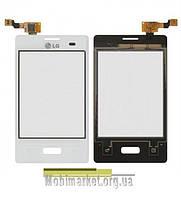Сенсорний екран LG E400 Optimus L3 білий