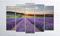 Модульные картины на холсте 100х150 см 5в1 (секции разного размера)