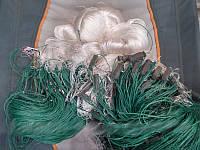 Сеть одностенная рыболовная с нити 100*2м, ячейки 70, 80, для промышленного лова.