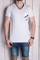 Мужская повседневная футболка (белая) (реплика), фото 1