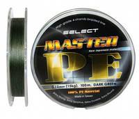 Шнур Select Master PE 100м. 0,20 мм зеленый