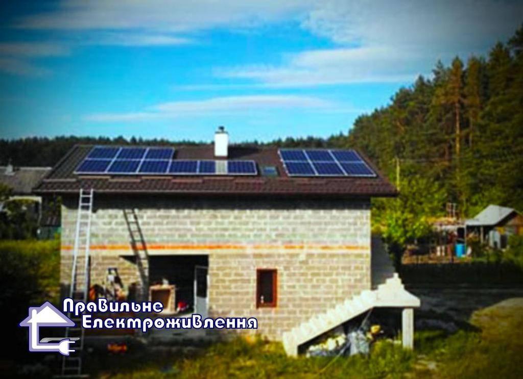 Гібридна сонячна електростанція 5 кВт Рясне-Руське потужністю. 1