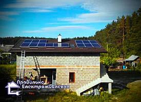 Гібридна сонячна електростанція 5 кВт Рясне-Руське. 1