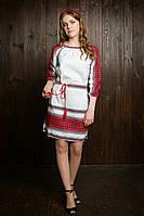 Стильное вышитое женское платье 78-002