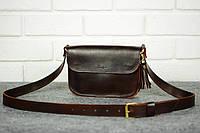 Женская кожаная сумка | Италия Вишня, фото 1