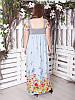 """Длинный сарафан с цветами """"Юрмала"""" большого размера до 70 и более, фото 2"""