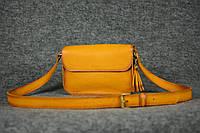 Женская кожаная сумка | Италия Янтарь , фото 1