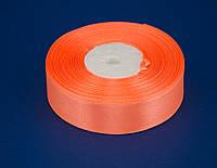 Лента атлас 2.5 см, 33 м, № 22 ярко персиковая